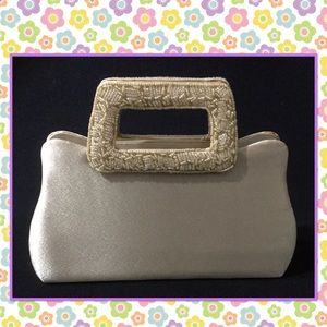 Gold beads evening bag